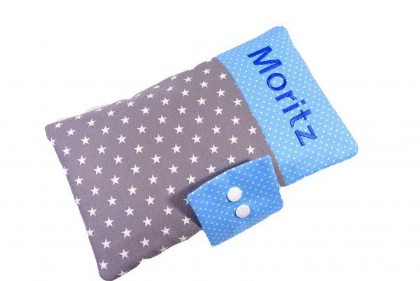 Windeltasche mit Namen Sterne mit blau