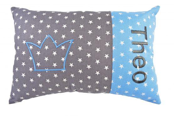 Taufkissen mit Namen Krone Prinz