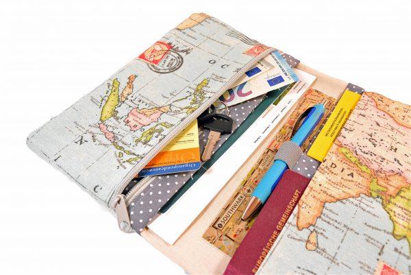 Reiseetui Weltkarte