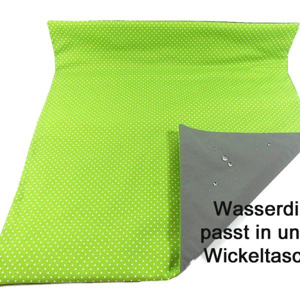 Wickelunterlage grün mit Punkten