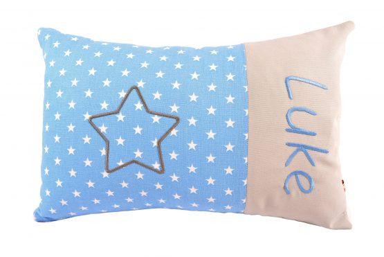 Kissen mit Namen Stern