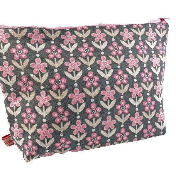 Kulturtasche Blume rosa