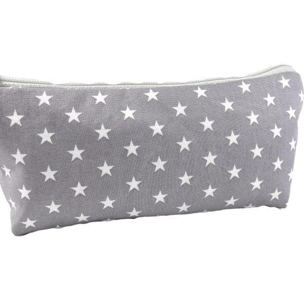 Schminktasche graue Sterne