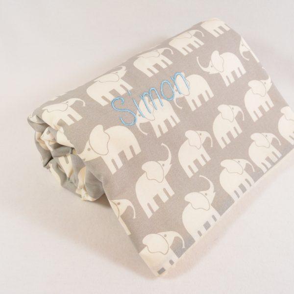 Babydecke mit Namen Elefant