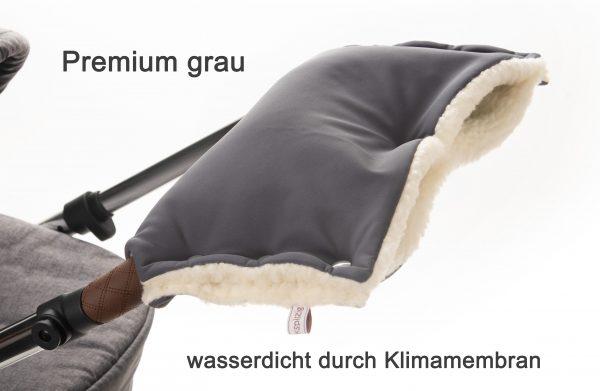 Kinderwagenmuff Premium dunkelgrau