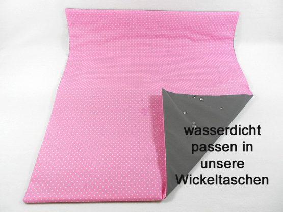 Wickelunterlage rosa Punkte