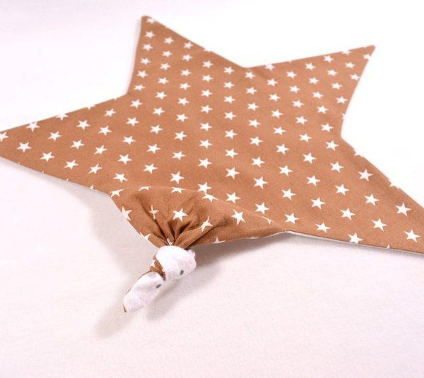 Schmusetuch in beige mit Sternen