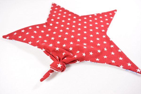 Schmusetuch in rot mit Sternen