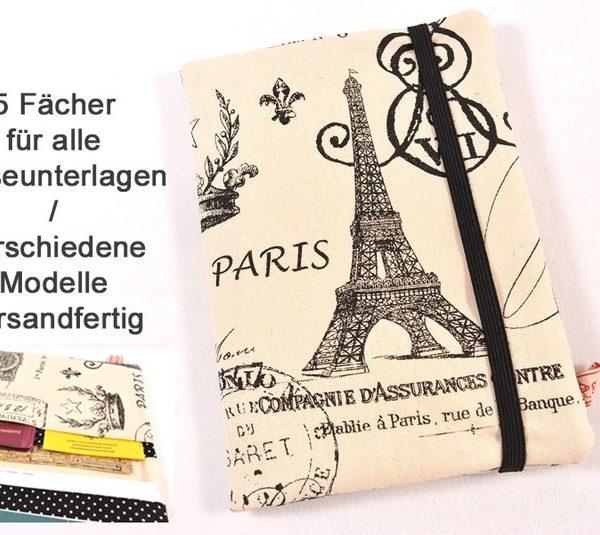 Reiseetui Reisepasshülle Paris