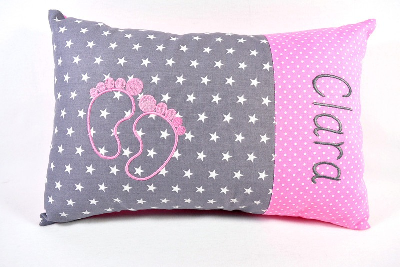 Kissen mit Namen rosa Mädchen