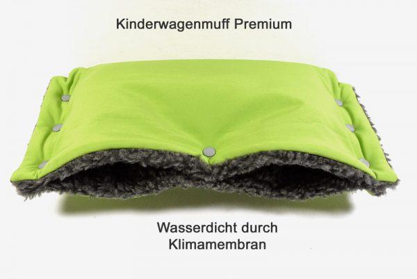 Kinderwagenmuff Premium grün