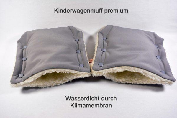 Kinderwagenmuff Premium hellgrau