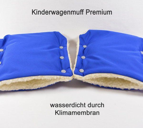 Kinderwagenmuff Premium royalblau