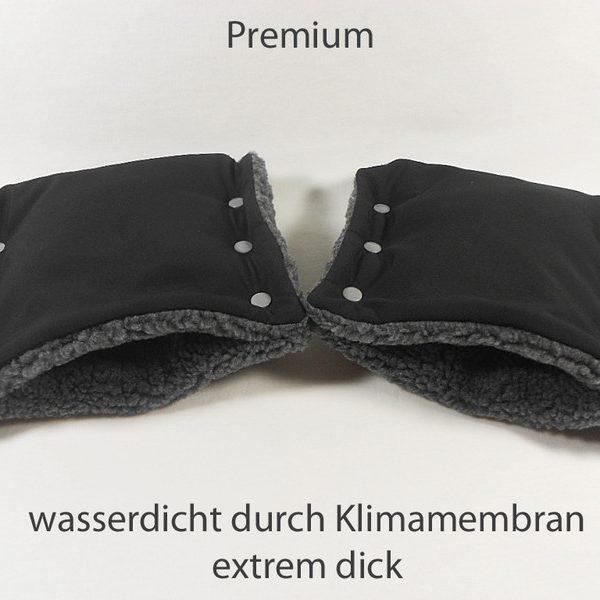 Kinderwagenmuff Premium schwarz