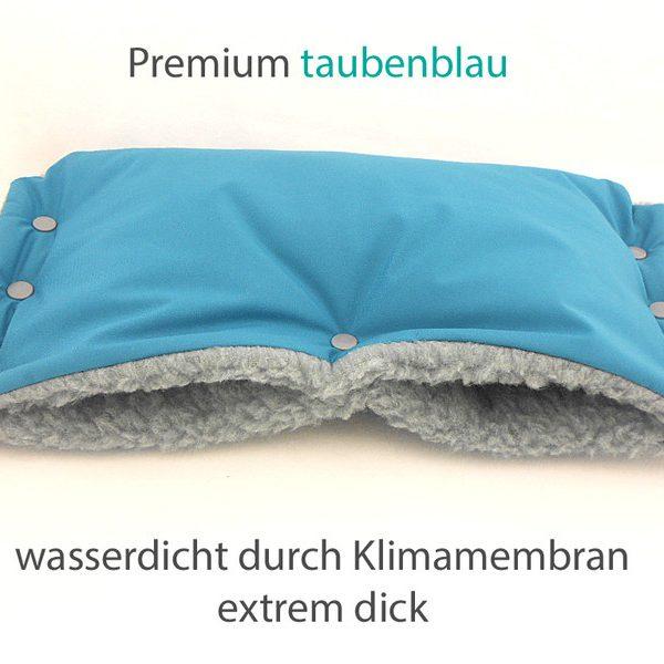 Kinderwagenmuff Premium türkis