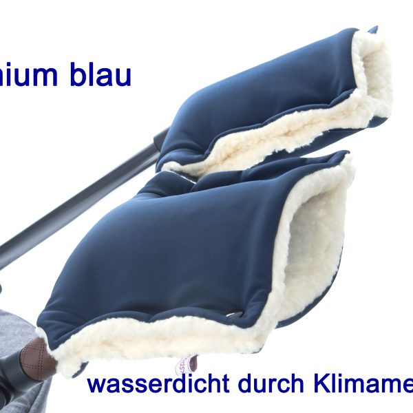 Kinderwagenmuff Premium blau