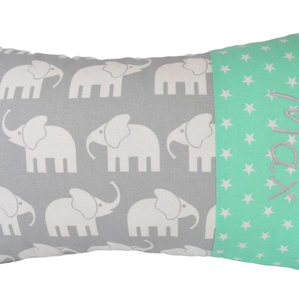 Kissen mit Namen Elefant