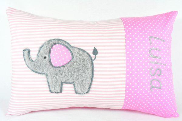 Namenskissen Kissen mit Namen Elefant