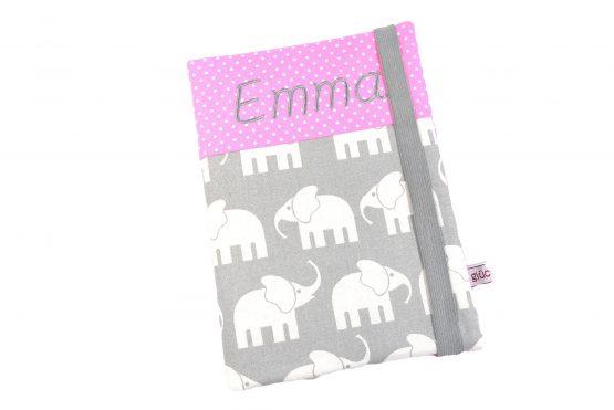 U Hefthülle mit Namen Elefant Mädchen
