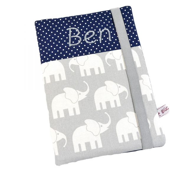 U Hefthülle mit Namen Elefant Junge