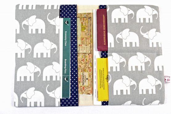 Reiseetui Reisepasshülle Elefanten