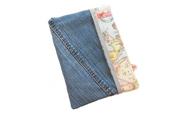 Upcycling Reisepasshülle Jeans