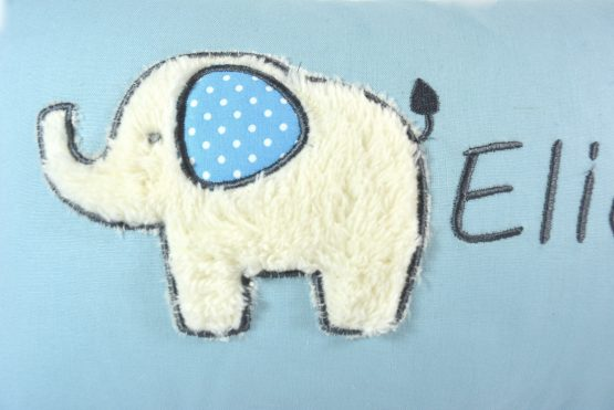 Elefant einzeln uni blau