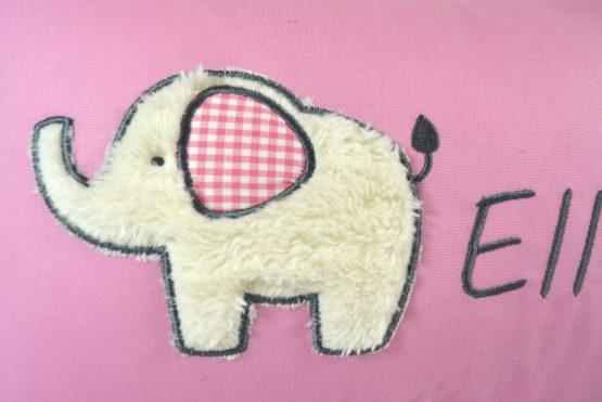Elefant einzeln uni rosa