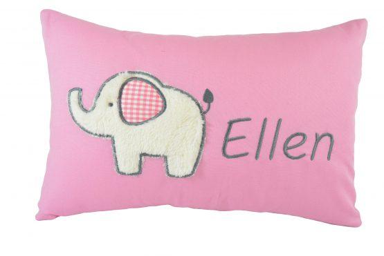 Kissen Elefant uni rosa