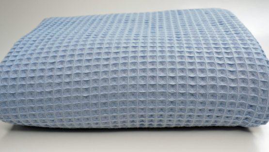 Decke Waffeln blau