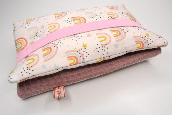 Windeltasche praktisch Waffel rosa2